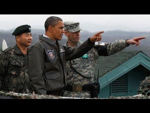 Obama peers into North Korea over 'freedom's frontier'