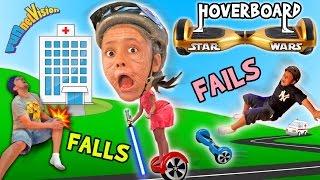 Little Granny Lightsaber! HOVERBOARD Family Fails and Falls! (Star Wars FUNnel Vision Vlog)