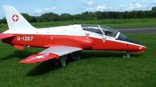 Walter Gähwiler Huge Scale BAe Hawk MK-66 Swiss Air Force R/C Turbine Model Jet Flight Video