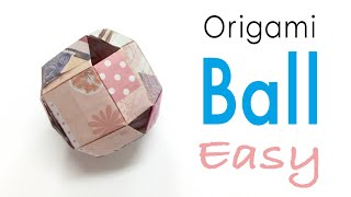 Easy☺︎ Origami Paper Ball ♡fun toys for kids♡ - Origami Kawaii〔#155〕