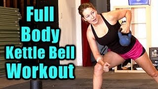 Full Body Workout: Kettle Bell Exercise Routine, Tone at Home Cardio Fitness Training, Burn Fat FAST