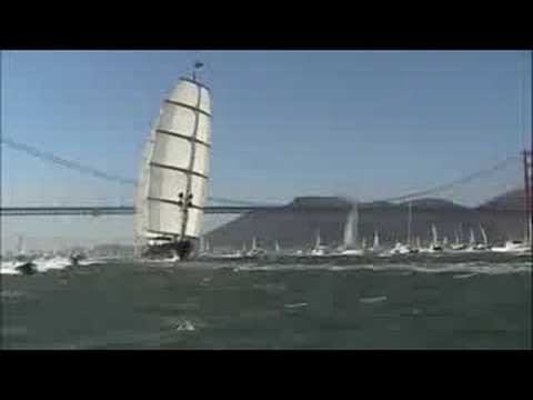 The Maltese Falcon arriving in San Francisco Bay