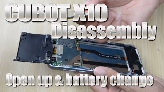 Cubot X10 (How to open up & replace battery) MTK6592 Octa Core, 2GB RAM, Alloy & Glass Design