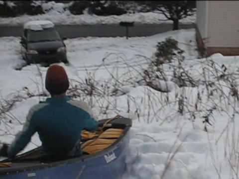 Snow Canoeing  - Asheville Blizzard 09!