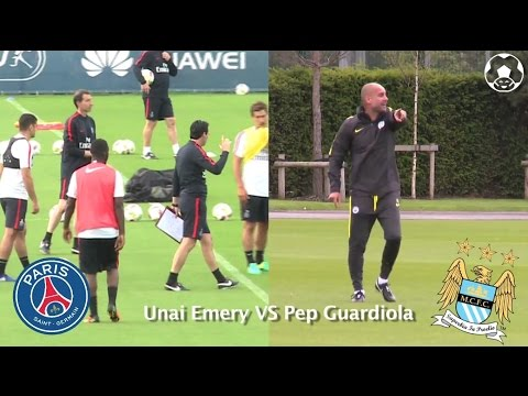 Unai Emery PSG VS Pep Guardiola City