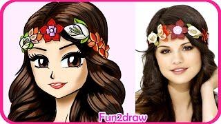 How to Draw Selena Gomez - Manga, Anime, Drawing tutorial CUTE