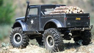 Jeep Nukizer 715 Carrying Wood | ESS-ONE, Winching, Broken Driveshaft, RC Scale Truck