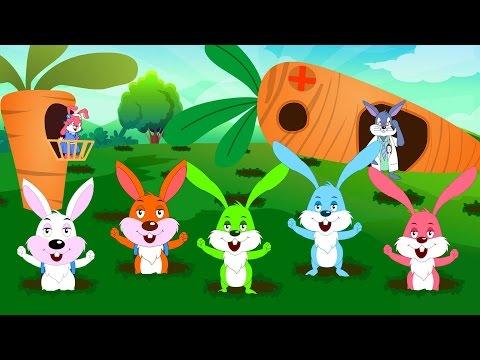 Five Little Rabbits Nursery Rhymes Kids Tv Nursery Rhymes S01EP282
