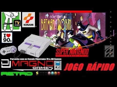 Adventures of Batman e Robin Jogo Rápido Super Nintendo Konami 1994