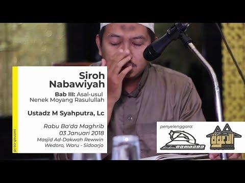 Siroh Nabawiyah Bab III : Asal-usul Nenek Moyang Rasulullah - Ustadz Muhammad Syahputra, Lc