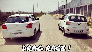Swift VS Grand i10🔥| Drag Race | Must watch | Tushar 51NGH