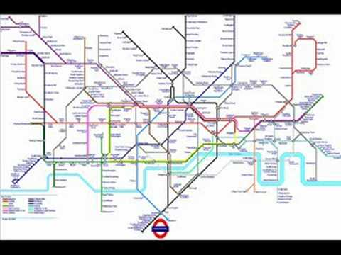 London Underground Tube Maps 1983-2008