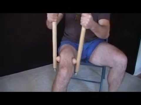 Restless Leg Syndrome treatment w/ myMT Massage/ Yoga Tool