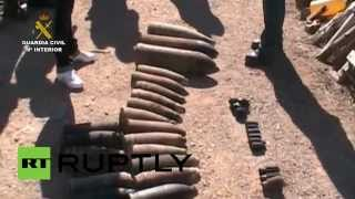Live rounds & mortar shells: Spanish Guard destroys civil war ammo