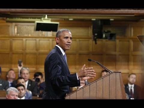 Prime Minister Trudeau and President Obama deliver addresses to Parliament