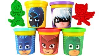 PJ Masks Play Doh Molds & Surprise Eggs Paw Patrol Kinetic Sand Molds Learn Colors