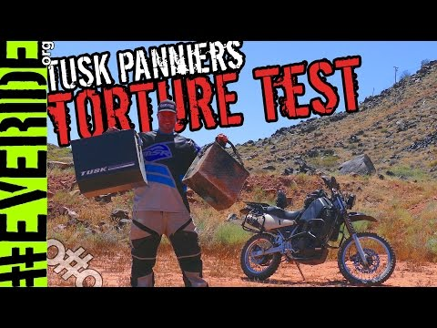 Brutally Honest Tusk Rack & Panniers Review & TORTURE TEST #everide