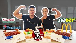 EVERY FAST FOOD CHALLENGE   Epic Cheat Meal   Boyfriend vs Girlfriend
