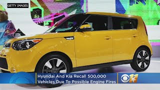 Hyundai, Kia Recall Over 500K Vehicles Due To Engine Fire Risk