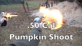 Desert Eagle Pumpkin Shooting