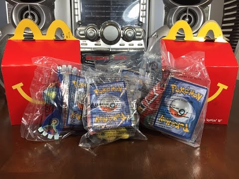 McDonald's Pokemon Happy Meal Toys 2015 1-4