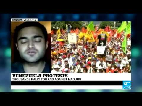 Venezuela: Thousands rally for and against President Maduro
