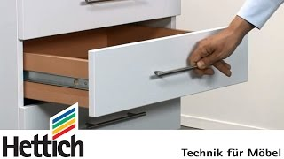 General information on ball-bearing part ext. runners f. 27mm groove: Do-It-Yourself with Hettich