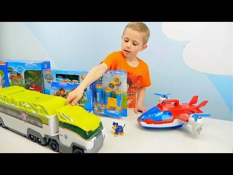 Щенячий Патруль Игрушки Патрулевозы Вездеход и многое другое. Видео для детей с игрушками PAW PATROL