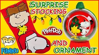 Charlie Brown & Snoopy SURPRISE STOCKING + DIY Craft Ornament | PEANUTS Surprise Toy UNBOXING