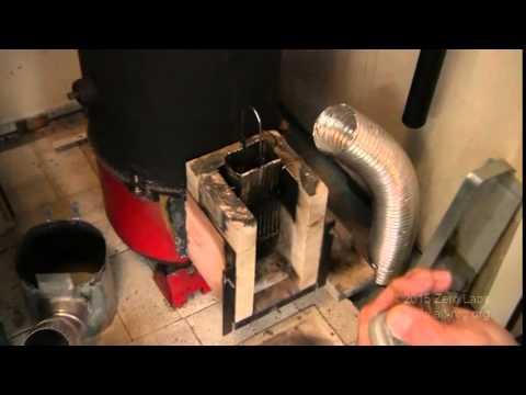 #395 Rocket stove gravity pellet feeder update