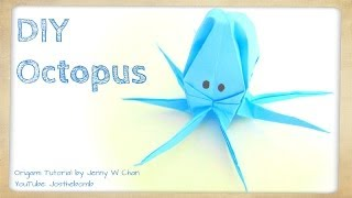 How to Fold an Origami Octopus or Squid - Kirigami Paper Octopus - Sea Creature Kids Crafts
