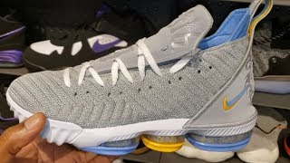 """FIRST LOOK: LEBRON JAMES' NIKE LEBRON 16 '""""MINNEAPOLIS LAKERS"""" SNEAKER (IN STORE REVIEW)"""