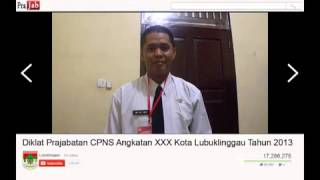 Diklat Prajabatan CPNS Angkatan XXX Kota Lubuklinggau Tahun 2013