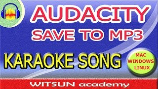 how to convert/save audacity files to MP3 with LEM, 100%, new 2018