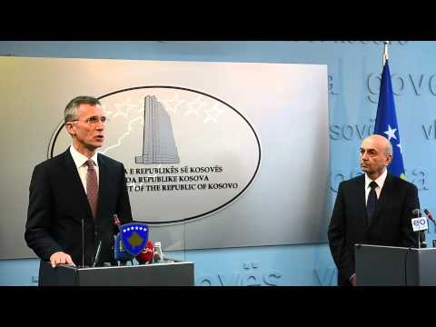NATO Secretary General with Isa Mustafa of Kosovo, 23 JAN 2015