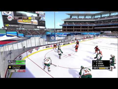 NHL 13 Gameplay - Winter Classic: Minnesota Wild vs. Philadelphia Flyers (1st Period) Xbox 360