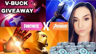*NEW AVENGERS GAMEPLAY  + 1K VBUX GIVEAWAY!!! // !giveaway !video !donate | Tinaa Gaming