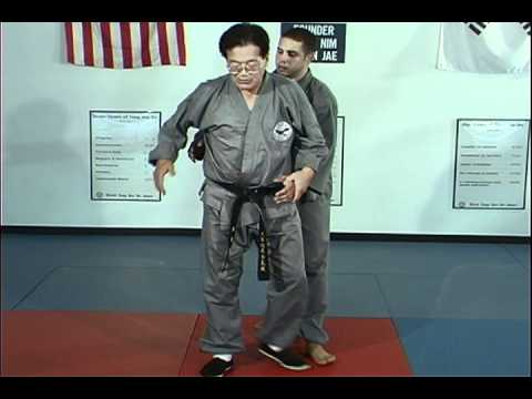 Hapkido Rear Under Arm Bear Hug Techniques 6 thru 10, Ji Han Jae Image 1