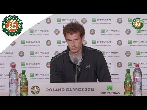 Press conference Andy Murray 2015 French Open / 4th Round