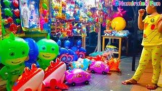 Baju Pokemon Go balita lucu belanja mainan anak balon membeli bola bola banyak warna imut lucu