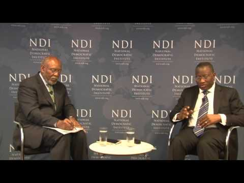 A Discussion with H.E. Goodluck E. Jonathan: Case studies on Nigeria and Tanzania