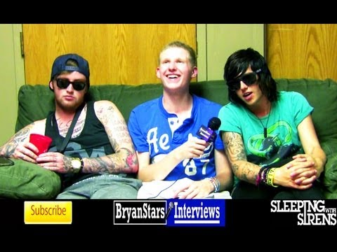 Sleeping With Sirens Interview #2 Kellin Quinn & Jesse Lawson Warped Tour 2012