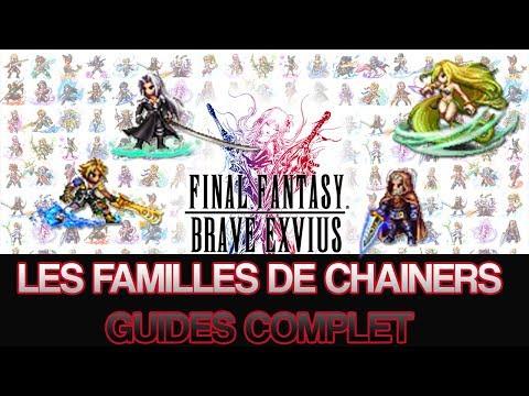 Final Fantasy Brave Exvius - Les familles de Chainers - Guides complet
