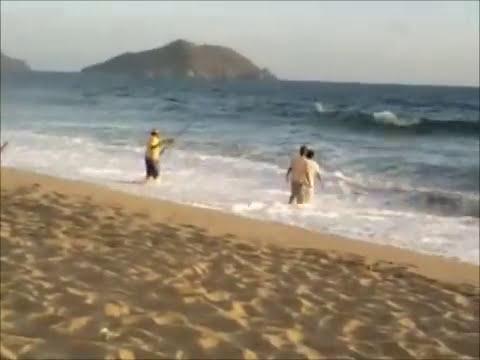 pesca de  mantarraya.wmv