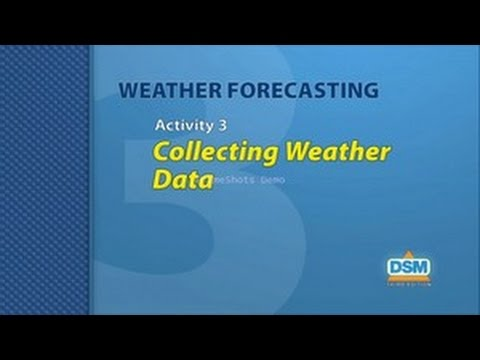 Weather Forecasting - Activity 3: Collecting Weather Data