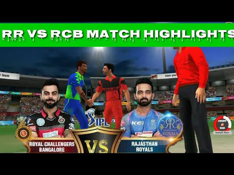 WCC2 IPL RR VS RCB Match highlights || Thrilling match