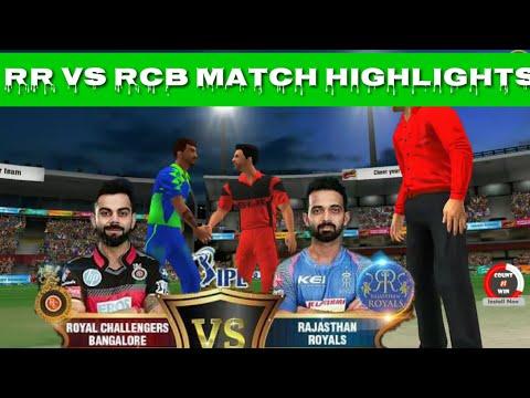 WCC2 IPL RR VS RCB Match highlights || Thrilling match
