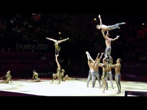 Spellbound gymnastics troupe performing at the London 2012 Olympics.MP4