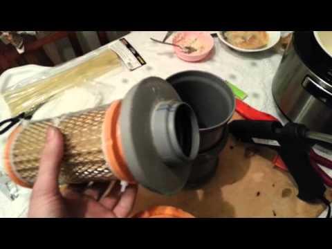 Как сделать воздушный фильтр для мотоцикла 761