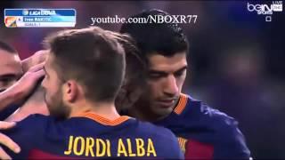 اهداف مباراة برشلونة وديبورتيفو لاكورونيا 2-2 شاشة كاملة تعليق علي محمد علي HD720 12-12-2015